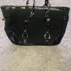 Large Black Coach Tote Bag - excellent condition